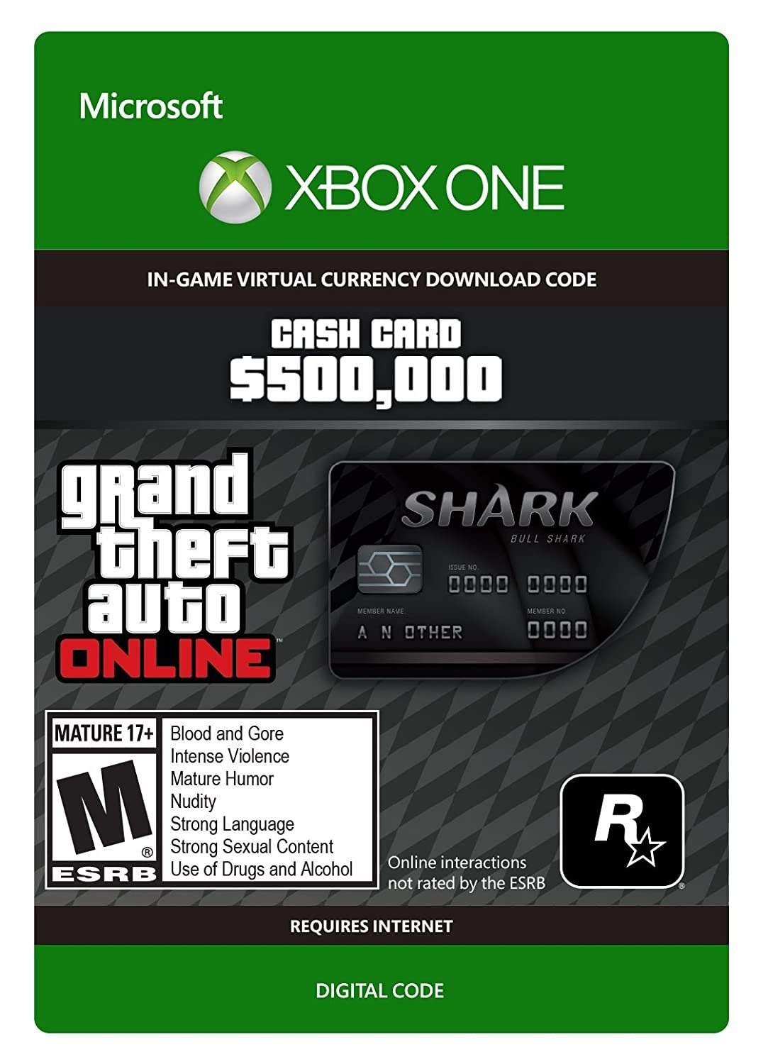 Grand Theft Auto V: Bull Shark Cash Card for Xbox One (Digital Code) for Xbox One image