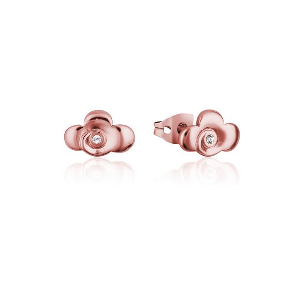 Couture Kingdom: Disney Mulan Warrior Symbol Stud Earrings Rose Gold
