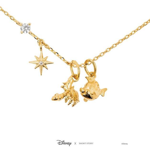 Short Story: Disney Flounder & Sebastian Necklace - Gold