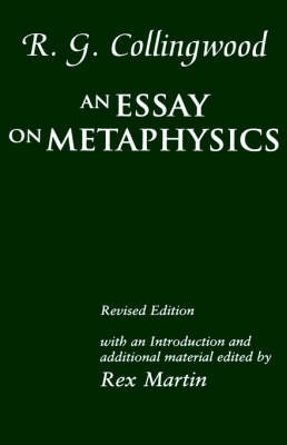An Essay on Metaphysics by R.G. Collingwood image