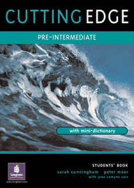 Cutting Edge Pre-Intermediate Students Book by Sarah Cunningham image