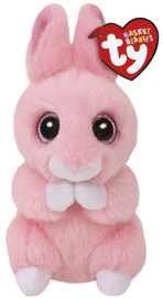 Ty Beanie Babies: Basket Bunny (Pink) - Small Plush