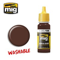 Ammo of Mig Jimenez Acrylic Paint - Washable Mud (17ml)
