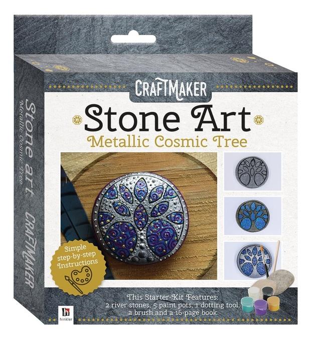 Craftmaker: Metallic Stone-Art Kit - Cosmic Tree