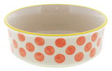 General Eclectic Small Pet Bowl (Orange Dot)