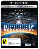 Independence Day: Resurgence (4K UHD + Blu-ray + Digital) DVD
