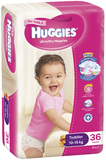 Huggies Nappies Bulk - Toddler Girl 10-15kg (36)