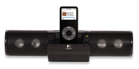 Logitech mm32 Portable Speakers for iPod - Black image