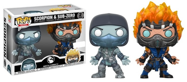 Mortal Kombat - Scorpion & Sub-Zero Pop! Vinyl 2-Pack
