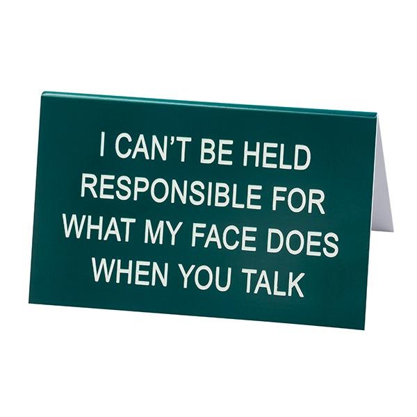 Desk Sign Large: Responsible (Green)