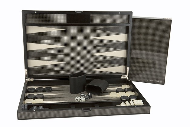 "Dal Rossi: Backgammon - 18"" Game Board (Carbon Fibre)"