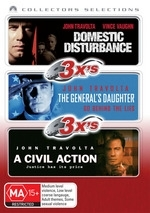 Domestic Disturbance / General's Daughter / A Civil Action - 3x's: Collectors Selections (3 Disc Set)  on DVD