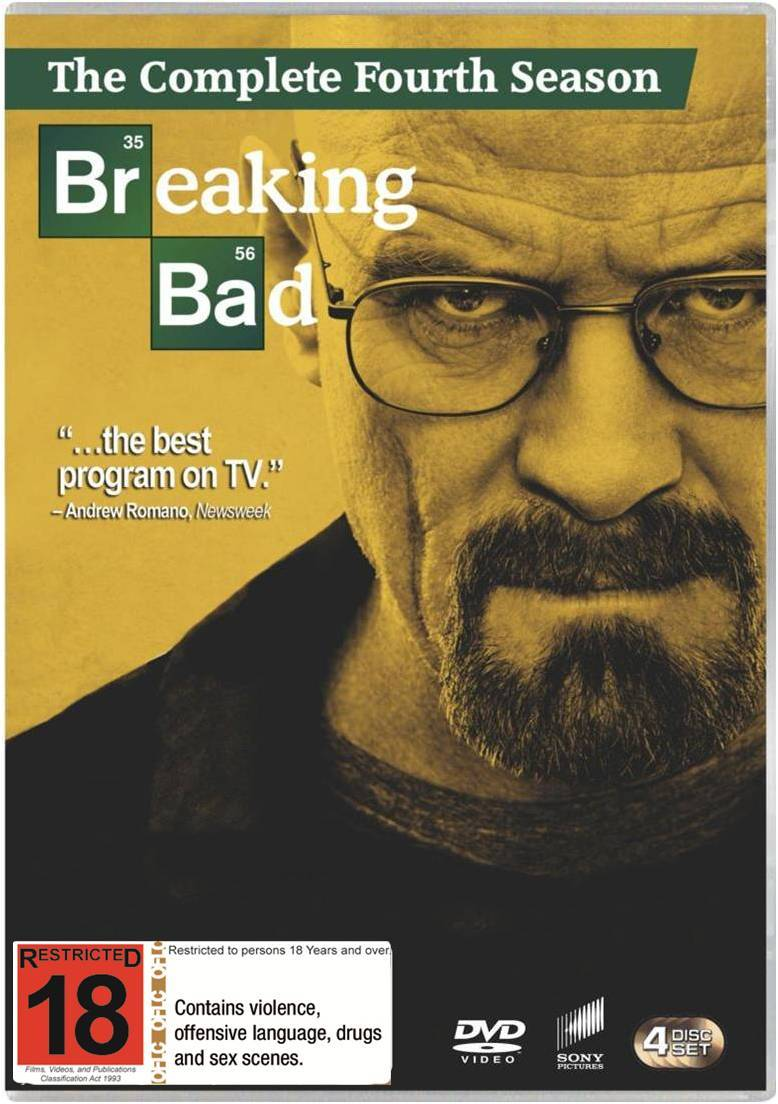 Breaking Bad Season 4 Dvd In Stock Buy Now At