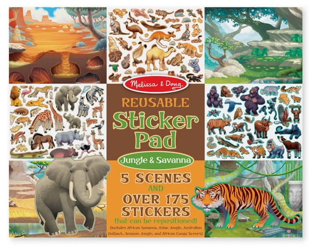 Melissa & Doug: Jungle & Savanna Reusable Sticker Pad