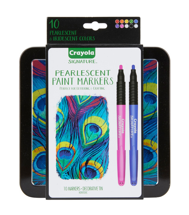 Crayola: Signature - Pearlescent Paint Markers (10 Pack)