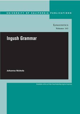Ingush Grammar by Johanna Nichols image