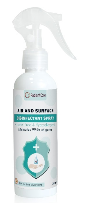 Radiant Core: Air & Surface Disinfectant Spray - (200ml)