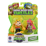 "TMNT Half Shell Hero 2.5"" Figure - Dogpound and Fishface"