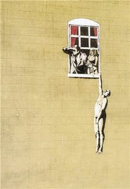 Blue Island Press Cards: Banksy - Window Hide
