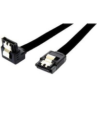 90 Degree 7-pin SATA to 7-pin SATA Cable (black)