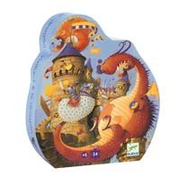 Djeco: Silhouette Puzzle - Valiant & the Dragon