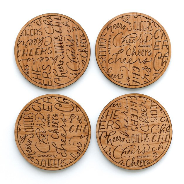 Cardtorial Cheers Coasters