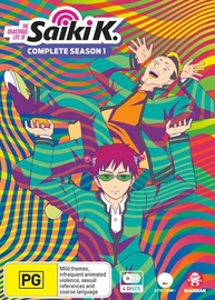 The Disastrous Life Of Saiki K. - Complete Season 1 on DVD