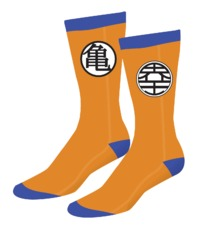 DBZ Blue Orange Logo Socks