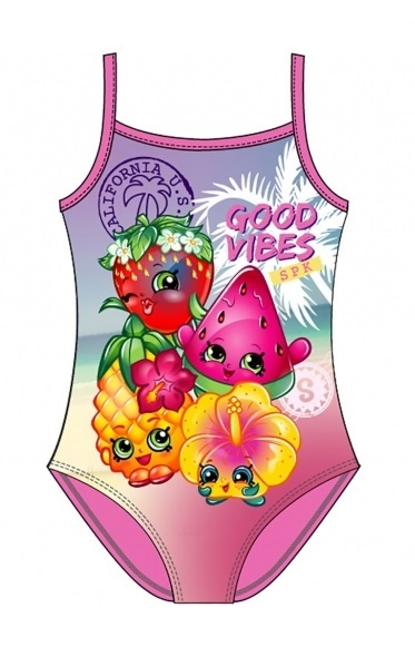 Shopkins: Good Vibes - Girls Swim Suit (2-3 Years)