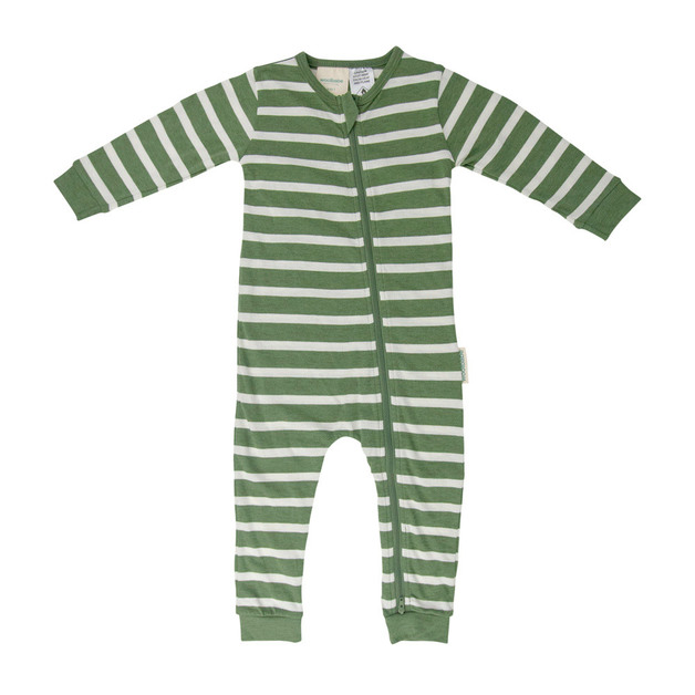 Woolbabe: Merino/Organic Cotton PJ Suit Fern - 6-12 months