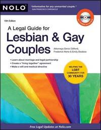 A Legal Guide for Lesbian & Gay Couples by Attorney Denis Clifford image