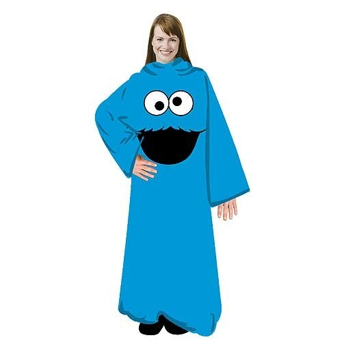 Sesame Street Cookie Monster Fleece Blanket with Sleeves