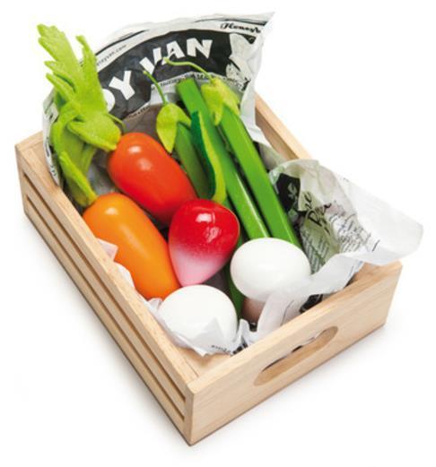 Le Toy Van: Honeybee Harvest Vegetables Wooden Crate Set image