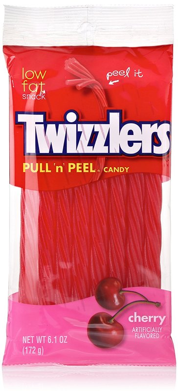 """Twizzlers: Pull """"N' Peel Cherry Candy - 172g"""