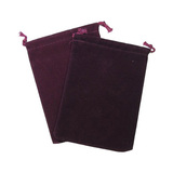 Suede Cloth Dice Bag (Small,Burgundy)