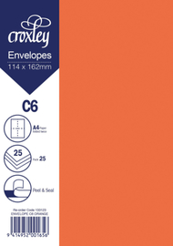 Envelope C6 Orange - 114x162mm (Pack 25)