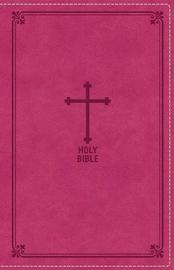 NKJV, Deluxe Gift Bible, Leathersoft, Pink, Red Letter Edition, Comfort Print by Thomas Nelson