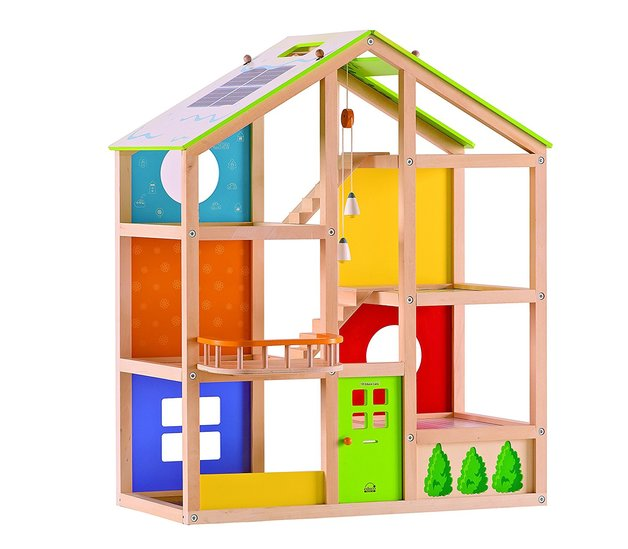 Hape: All Season Wooden Dolls House - Unfurnished
