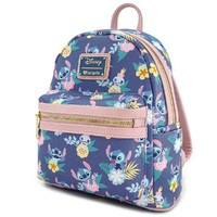 Loungefly Disney Stitch Floral Mini Backpack