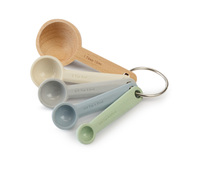 Zeal Beechwood and Silicone Measuring Spoons