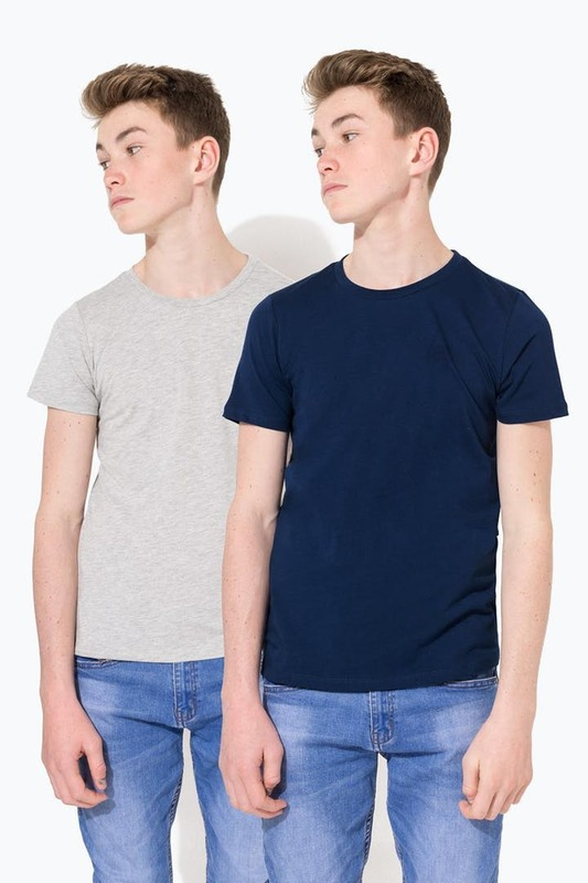 Just Hype: Staple Kids T-Shirt Multi Pack - Grey/Navy - 9/10y
