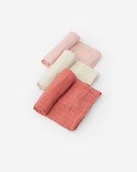 Little Unicorn: Cotton Muslin Swaddle - Rose Petal (3 Pack)