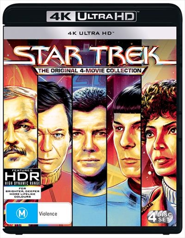 Star Trek: The Original 4-Movie Collection (4K UHD) on UHD Blu-ray