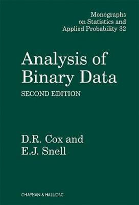 Analysis of Binary Data, Second Edition by D.R. Cox