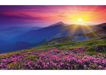 Ravensburger - Mountains At Dawn Puzzle (1000pc)