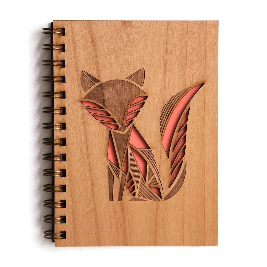 Cardtorial Wooden Journal - Fox image