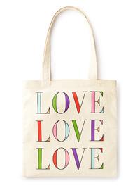 Kate Spade Book Tote Love Love Love