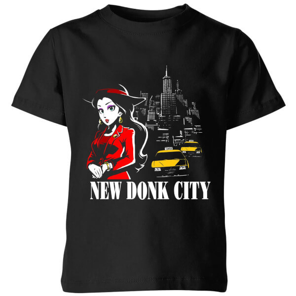 Nintendo Super Mario New Donk City Kids' T-Shirt - Black - 7-8 Years image