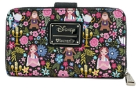 Loungefly: Beauty and the Beast - Print Zip-Around Wallet