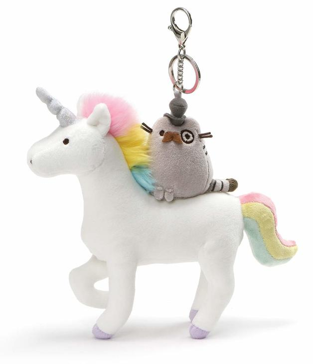 Pusheen & Unicorn - Deluxe Plush Keychain